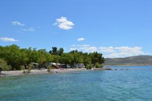 Kamp - pogled s morske strane