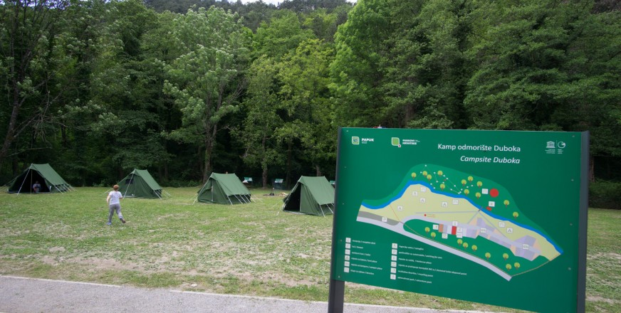 Information Assistant in Duboka Eco Camping Site